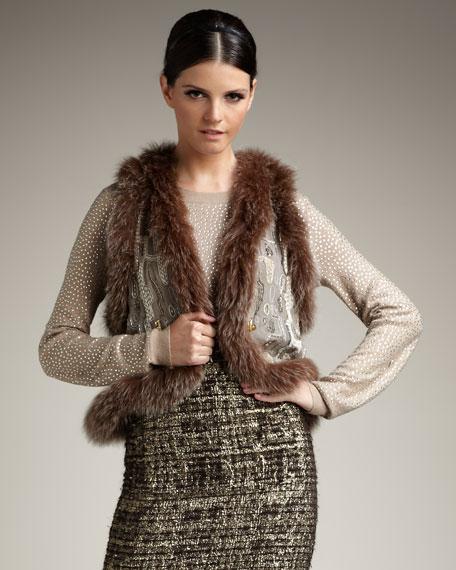Raven Fur-Trim Vest