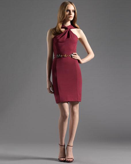 Asymmetrical Dress with Belt