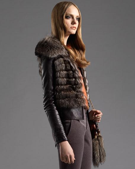 Belted Fur Jacket
