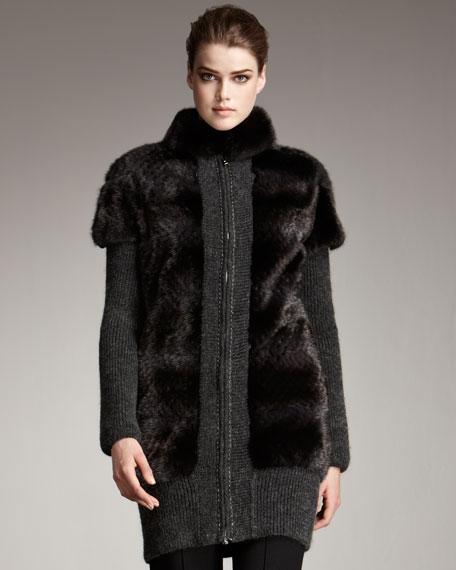 Fur & Knit Coat