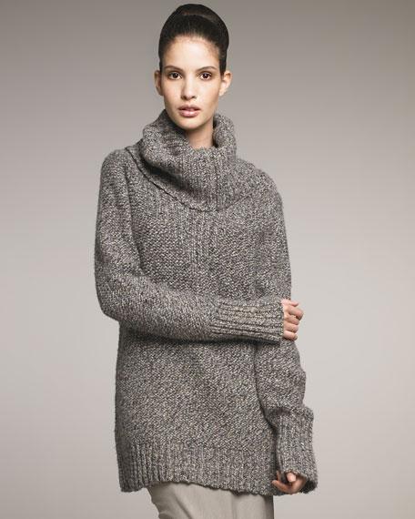 Loft Cashmere Tweed Turtleneck