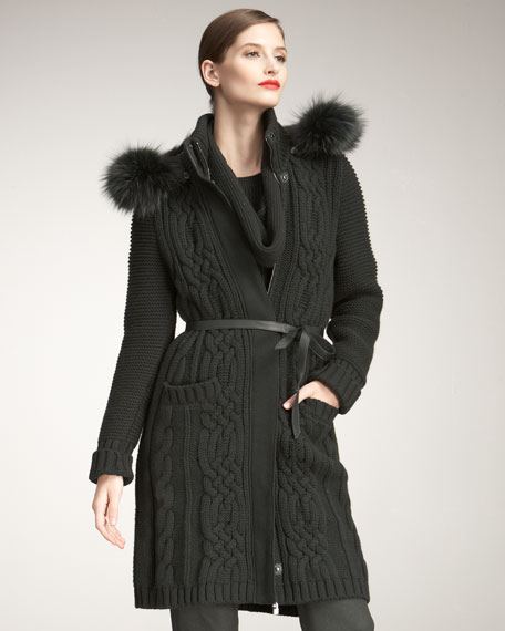 Hooded Cashmere Jacket