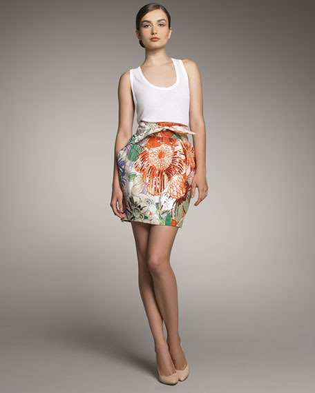 Floral-Printed Skirt