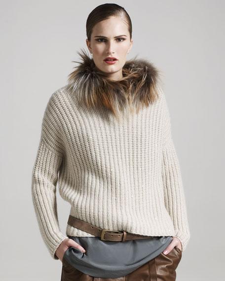 Short-Sleeve Silk Tunic