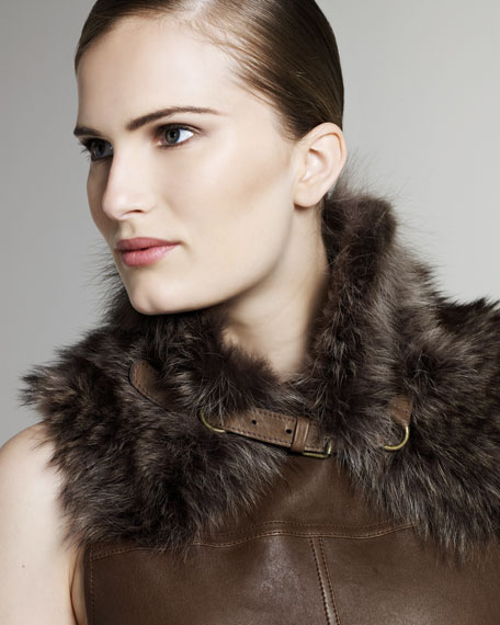 Buckled Fur Collar