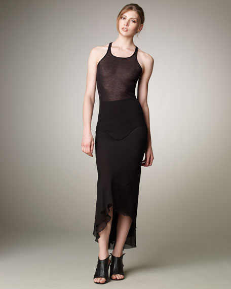 Long Georgette Skirt