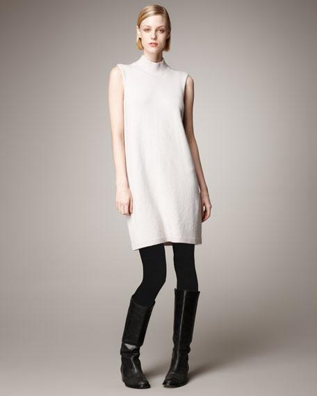 Sleeveless Cashmere Sweater Dress