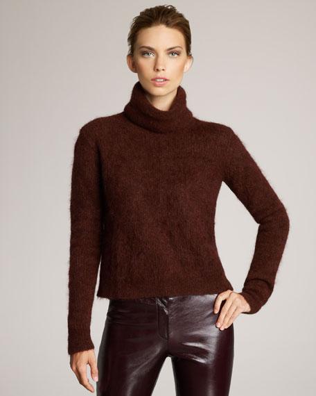 Fuzzy-Knit Turtleneck