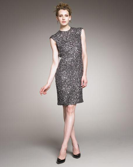 Sequin Open-Back Dress