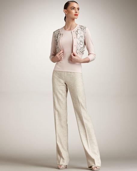 Metallic Tweed Pants