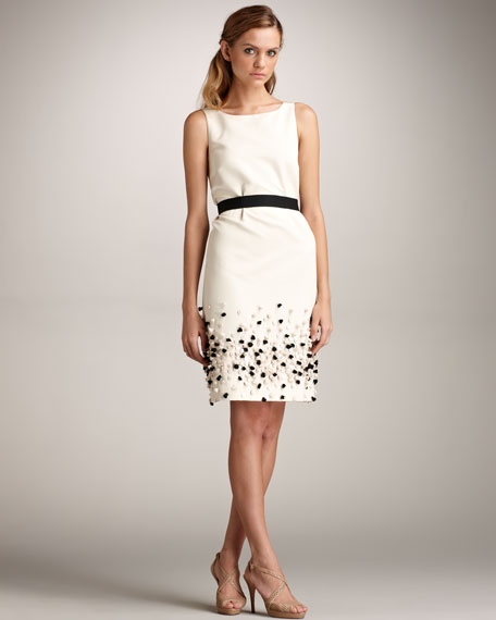 Embellished Sheath Dress & Belt