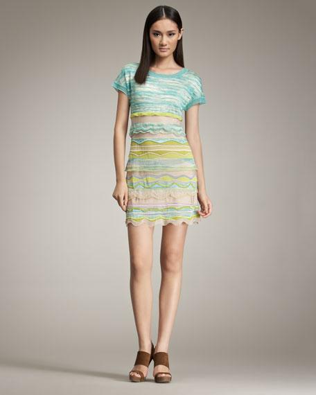 Dorella Short-Sleeve Tiered Dress