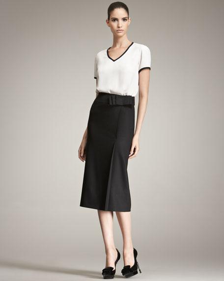 Ribbon-Detail Skirt