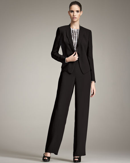 Textured Crepe Suit