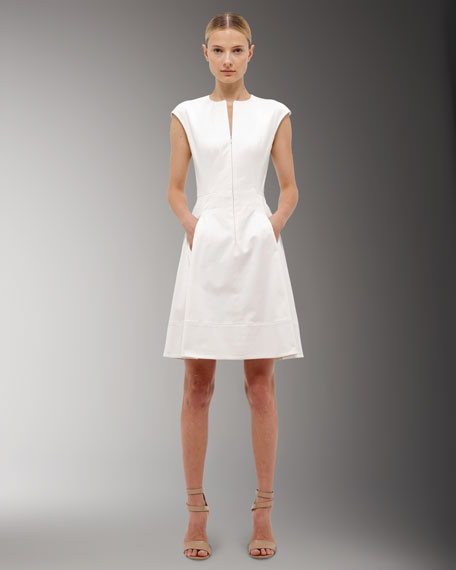 Hidden Zip-Front Dress