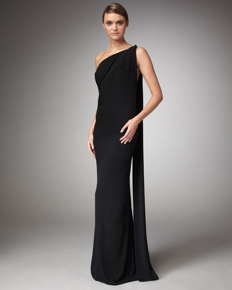 Grecian Stretch-Jersey Gown