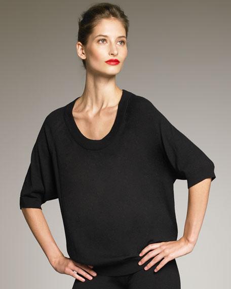 Cashmere Raglan-Sleeve Sweater