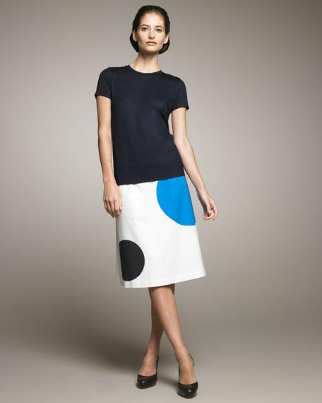 Graphic-Print Skirt