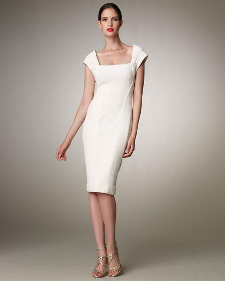 Trapunto-Stitch Dress