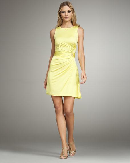 Asymmetric Ruched Dress