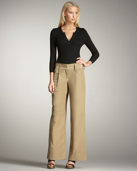 Tech-Fabric Trousers