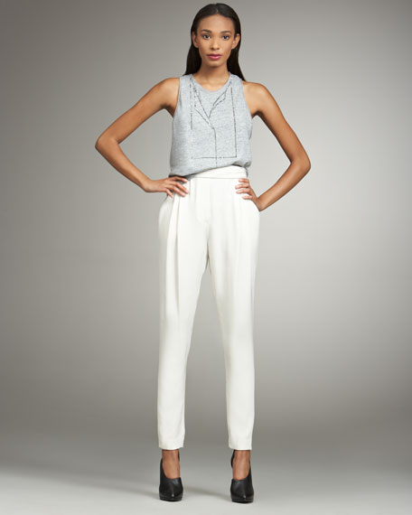 Draped Silk Trousers