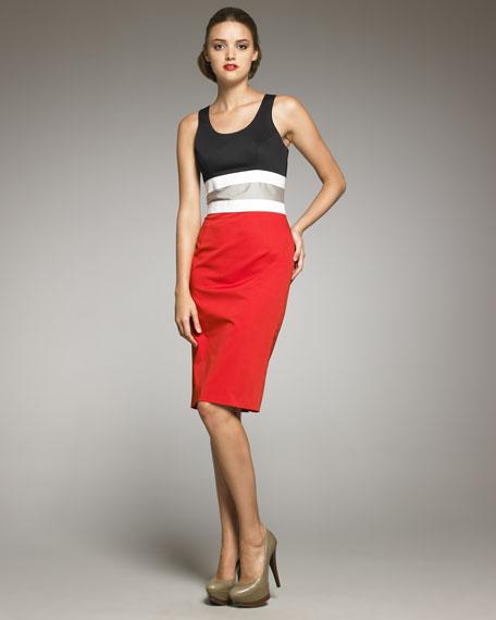 Colorblock-Waist Dress