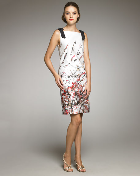 Abstract Floral-Print Dress