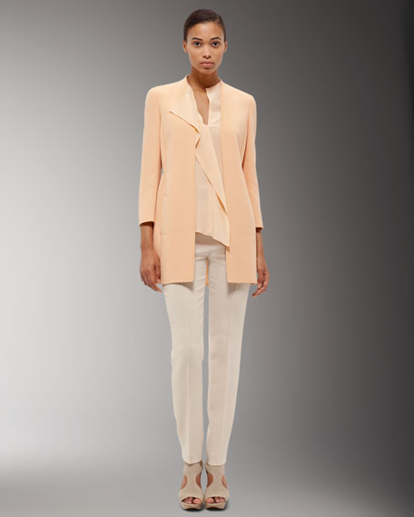 Double-Face Wool Pants, Sand