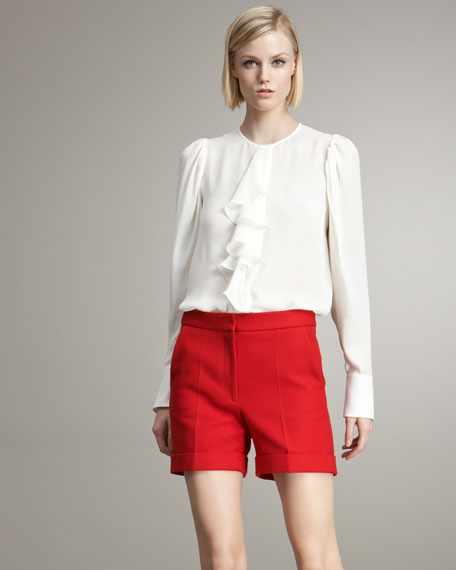 Trouser Shorts, Red