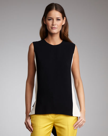 Paneled Two-Tone Top