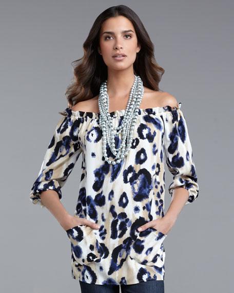 Midnight Leopard-Print Tunic