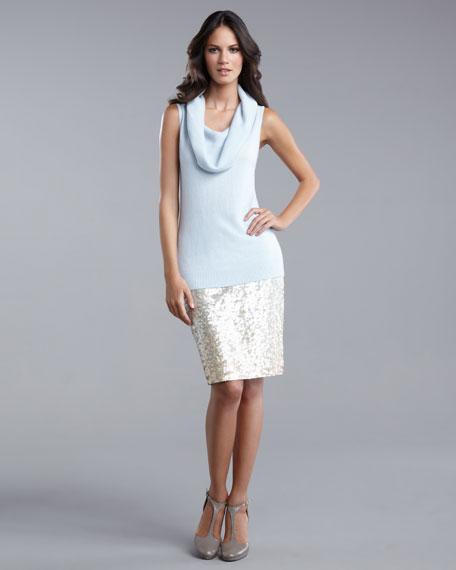 Degrade Sequined Skirt