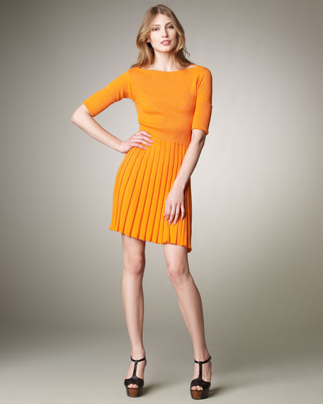 Fit-and-Flare Sweaterdress