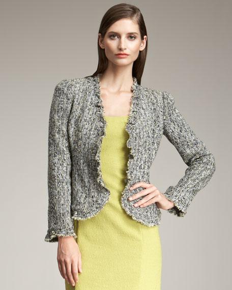 Fringe-Trimmed Tweed Jacket
