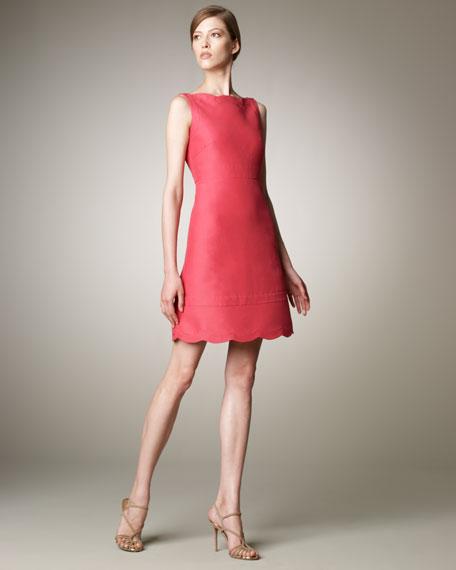 Scalloped-Trim Dress