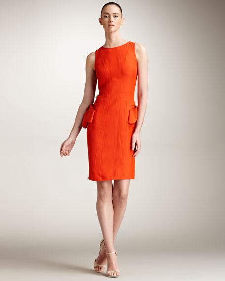 Panel-Seamed Sheath Dress