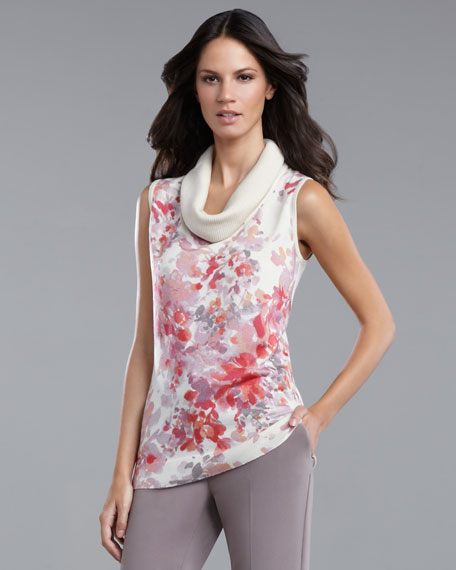 Floral-Print Shell