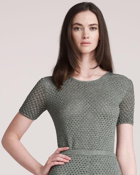 Long Open-Knit Top