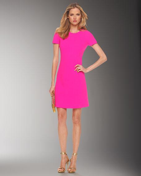 Stretch Boucle Dress, Neon