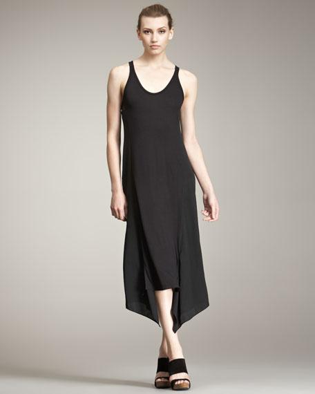 Jersey & Satin Tank Dress