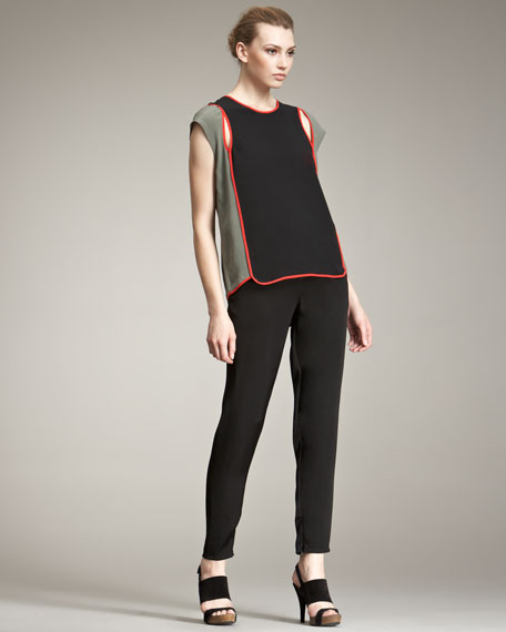 Ponte Knit Track Pants