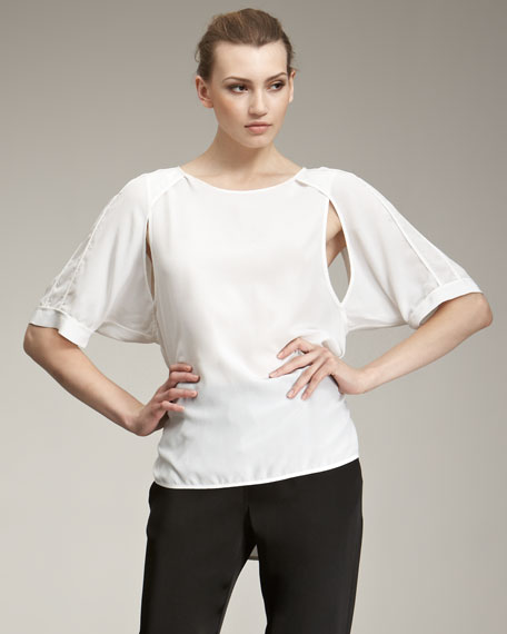 Raglan Cutout Shirt