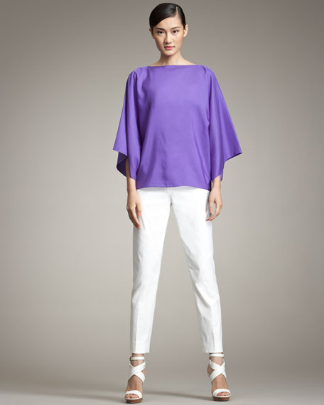 Margaret Cropped Narrow Trousers