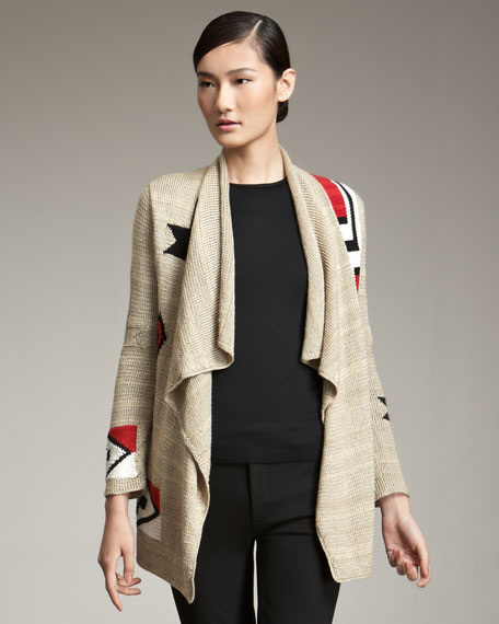 Hand-Woven Knit Cardigan