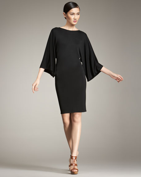 Ralph Lauren Black Label Sonia Kimono-Sleeve Dress