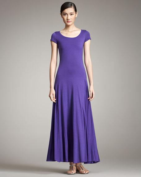 Cap-Sleeve Maxi Dress