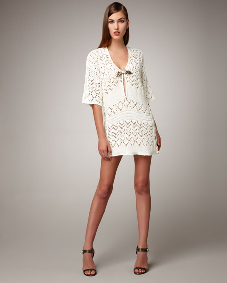 Crocheted Tunic With Applique