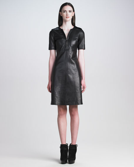 Leather Military Dress