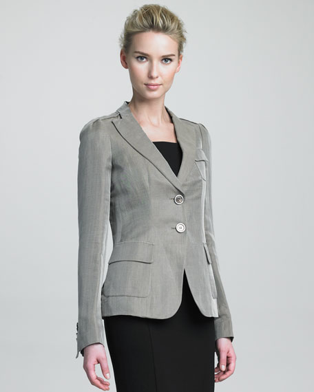 Wheat Two-Button Jacket